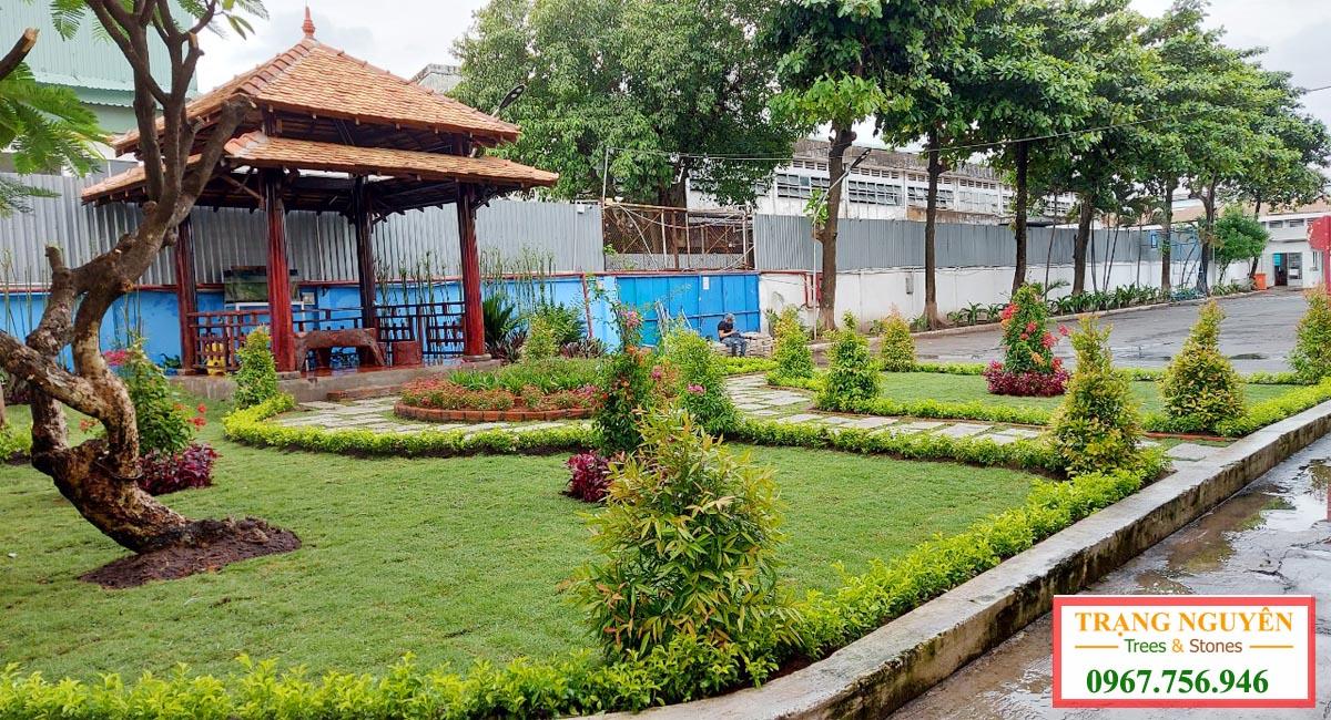 Sân vườn hoàn thành