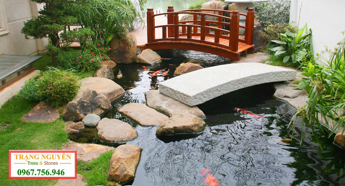 Sân vườn hồ cá